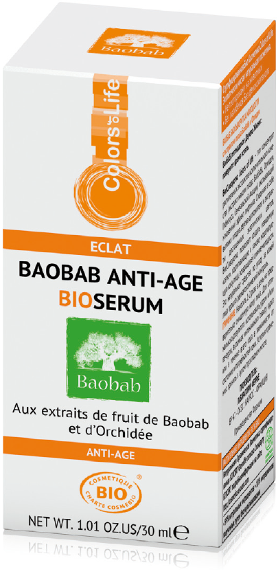 Colors of Life bio-cosmetics: Baobab Anti-Age BioSerum with orchid extract
