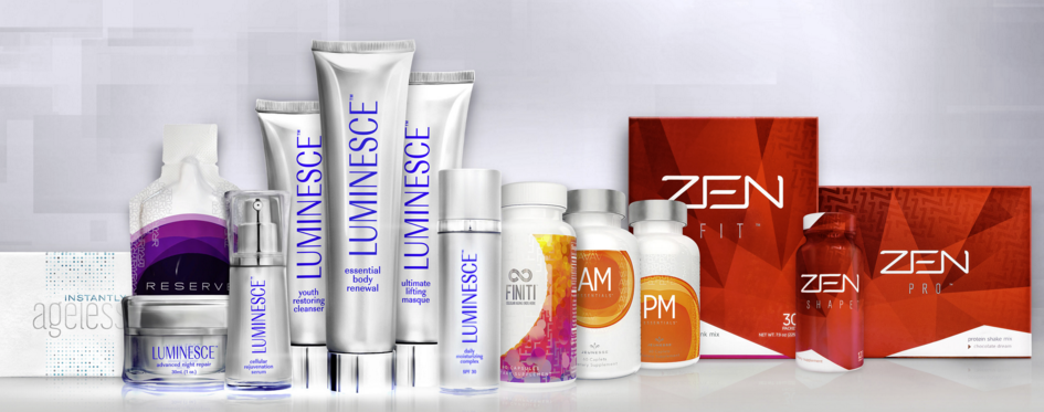 jeunesse global all products: zen, luminesce, instantly ageless, finiti, am-pm, reserve, m1nd (mind)