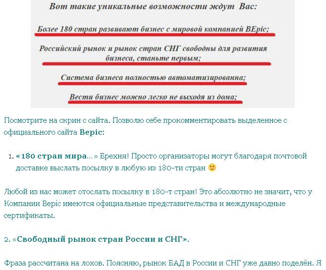 Критика сетевой компании bepic